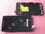 Mobile phone parts for Moto xt910 lcd display with touch screen with frame
