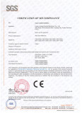 Xianda Machine CE Certificate