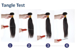 Tangle test for virgin hair weft ,quality guarantee ,No shedding,No tangle