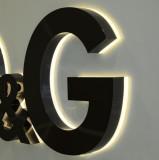 back lit channel sign for brand shop sign