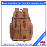 Canvas backapck with real leather trim