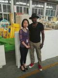 Customer from Togo visit our indoor playground workshop