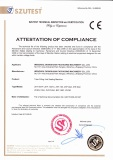 CE certificate for tube sealer