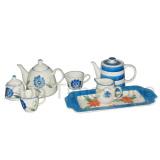 Stoneware Hand-Painted Tea Set (63011)
