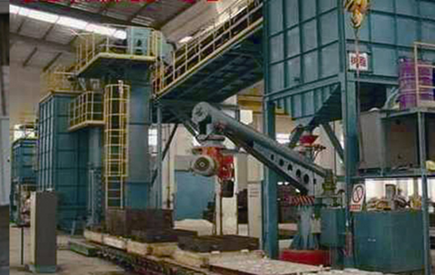 The resin sand molding machine