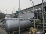 Engine oil refining to diesel oil distillation plant