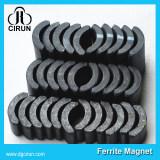 Arc shape ferrite magnet for motor