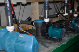Water pump test line