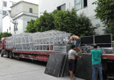 Aluminum Trusses are Loaded to the big truck by Factory to deliver