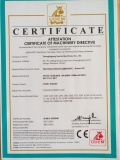 CE Certificate for Plastic Extruder