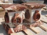 Finish Product of Cock Blood Red Marble
