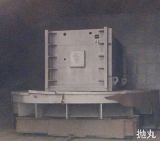 ball blasting equipment for welded parts afer heating