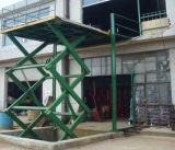 Stationary scissor cargo lift