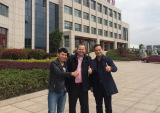 Welcome USA customer visiting Shanghai Reliance Alu Factory