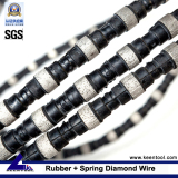 Diamond Wire with rubber+flat spring fixed for cutting concrete and reinforced concrete
