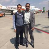Meeting customer at airport