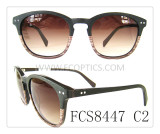 New double color acetate sunglasses