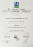Management System Certificate of Det Norske Veritas