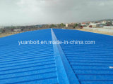 Roof ,gutter and ridge installation of steel building