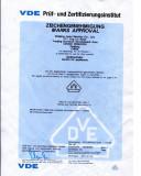 LEMA VDE Micro Switch Certificate