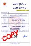 CE Certificate Fiber Cement Sandwichboard--P1