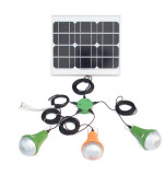 15W solar power system with 3pcs rechargerabale solar lamp
