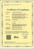 IP67 test of led street light