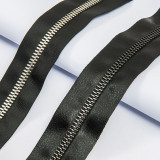 2015 New Open-End Metal Teeth Leather Zipper