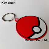 3D soft pvc key ring,rubber keyring