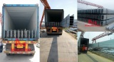 H steel pole delivery