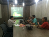 Discussing palm oil tractors usage in palm oil plantation in Indonesia agent office