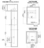 Hospital elevator lift construction sketch