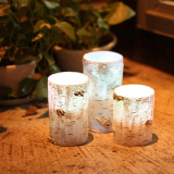Pillar Flameless Wax Candle Electronic LED Candle for Wedding and Birthday