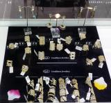 new design of 925 silver rings with gold plating