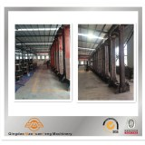 Producting tyre curing press in factory workshop