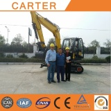 Australian clients visit Carter CT65 mini excavator