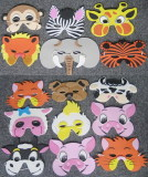 EVA Jungle&Farm Animal Masks