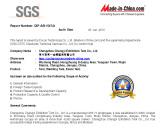 SGS Certificates of Changyi Exhibition Tent Co.,Ltd