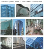 double silver low E insulated glass unit for Buidliding Curtain Wall