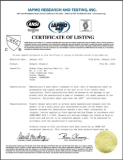 certificate for acrylic shower tray