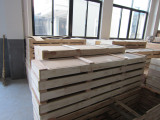 Wooden packing for glass panel, extra strong and precautions