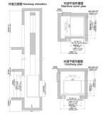 Villa elevator lift construction sketch