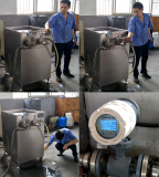 Working picture of the homogenizer