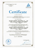 TUV FACTORY INSPECTION CERTIFICATE