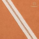 H20001 Hot Sale Ladder Design Fashion Cotton Lace White Stripe Laces for Clothing Decoration