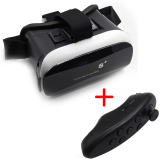 Vr Box 3D Virtual Reality Glasses with Bluetooth Remote Controller