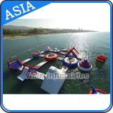 Giant inflatable aqua park