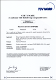 CE Certificate of Hydraulic Power Unit