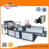 cold cutting two line T shirt bag making machine
