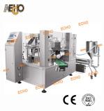 Rotary premade pouch liquid packing machine